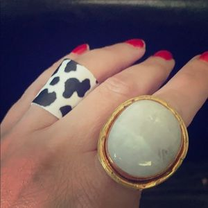 Faux Leather Ring